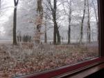 Winters uitzicht vanuit controlekamer